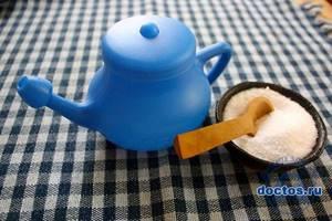 Раствор для промывания носа - соотношение соли и воды, средства