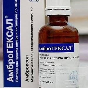 Амброгексал раствор для ингаляций: инструкция по применению