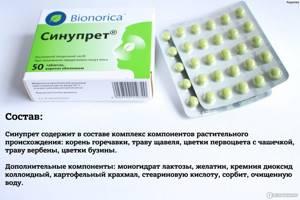 Препарат Синупрет при лечении гайморита: как принимать инструкция